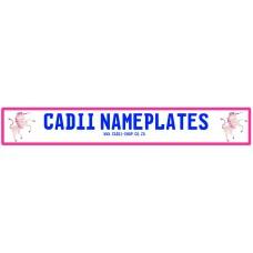 Cadii Custom Name Plate - Pink Unicorn