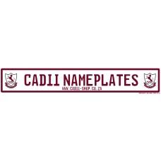 Cadii Custom Name Plate - Waterkloof house Preparatory School
