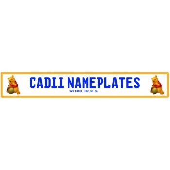 Cadii Custom Name Plate - Winnie the Pooh