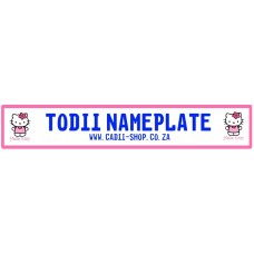 Todii Custom Name Plate - Hello Kitty 4