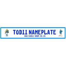 Todii Custom Name Plate - Smurfette