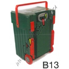 Cadii School Bag - B13 (Green Complete - Red Trimmings)