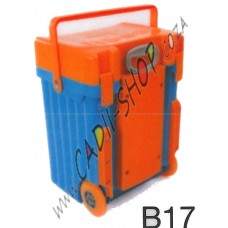 Cadii School Bag - B17 (Orange Lid - Blue Body)