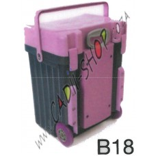 Cadii School Bag - B18 (Lilac Lid - Navy Blue Body)