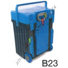 Cadii School Bag - B23 (Blue Lid - Navy Blue Body)