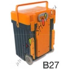 Cadii School Bag - B27 (Mustard Lid - Navy Blue Body)