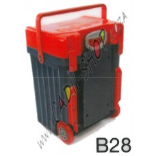 Cadii School Bag - B28 (Red Lid - Navy Blue Body)