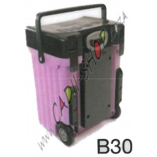 Cadii School Bag - B30 (Black Lid - Lilac Body)
