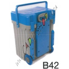 Cadii School Bag - B42 (Light Blue lid - Grey Body)