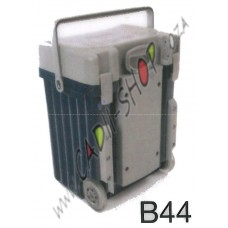 Cadii School Bag - B44 (Grey Lid - Navy Blue Body)
