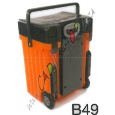 Cadii School Bag - B49 (Black Lid - Orange Body)