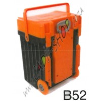 Cadii School Bag - B52 (Orange Lid - Black Body)