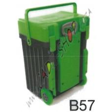 Cadii School Bag - B57 (Green Lid - Black Body)