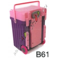 Cadii School Bag - B61 (Pink Lid - Purple Body)