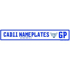 Cadii Custom Name Plate - Blue Bulls Rugby GP Number Plate