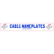 Cadii Custom Name Plate - Butterfly