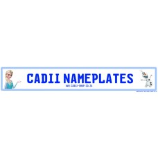 Cadii Custom Name Plate - Frozen Elsa and Olaf