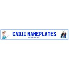 Cadii Custom Name Plate - Frozen