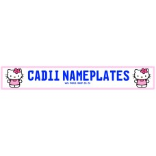 Cadii Custom Name Plate - Hello Kitty