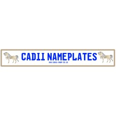 Cadii Custom Name Plate - Horse