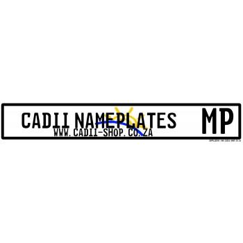 Cadii Custom Name Plate - Mphumalanga Number Plate