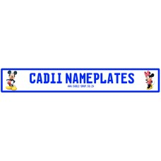 Cadii Custom Name Plate - Mickey and Minnie