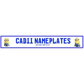 Cadii Custom Name Plate - Minions