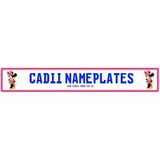 Cadii Custom Name Plate - Minnie