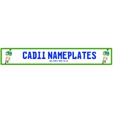 Cadii Custom Name Plate - Rugby Player Green