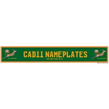 Cadii Custom Name Plate - SA Rugby nameplate