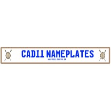 Cadii Custom Name Plate - Shield and Spears