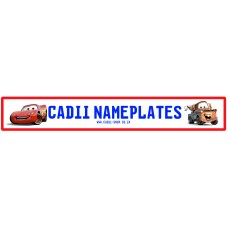 Cadii Custom Name Plate - Speed Mcqueen and Mator