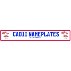 Cadii Custom Name Plate - ToadStools