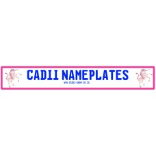 Cadii Custom Name Plate - Pink Unicorn