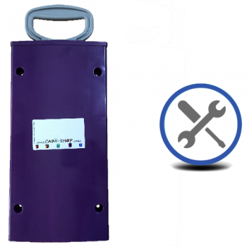 Cadii Repair - CARRY-IN-COLLECT-AGAIN Service - Pull Handle Replacement - Purple.