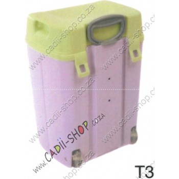 Todii School bag for Toddlers - T03 Lilac Body and Green Lid