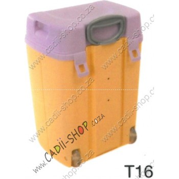 Todii School bag for Toddlers - T16 Yellow Body and Lilac Lid