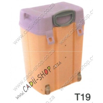Todii School bag for Toddlers - T19 Peach Body and Lilac Lid