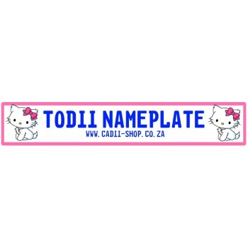 Todii Custom Name Plate - Hello Kitten