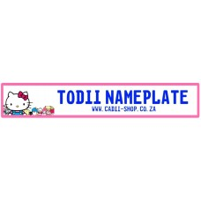 Todii Custom Name Plate - Hello Kitty