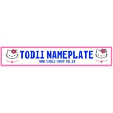 Todii Custom Name Plate - Hello Kitty 2
