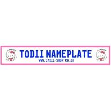 Todii Custom Name Plate - Hello Kitty 3
