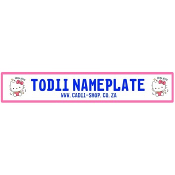 Todii Custom Name Plate - Hello Kitty 3