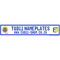 Todii Custom Name Plate - Laerskool Elardus Park