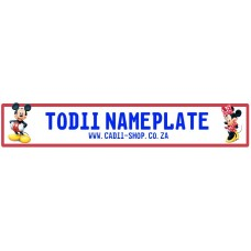 Todii Custom Name Plate - Mickey and Minnie