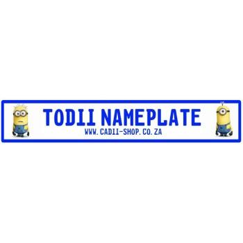 Todii Custom Name Plate - Minions