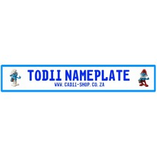 Todii Custom Name Plate - Smurf Brainy