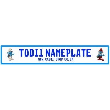 Todii Custom Name Plate - Smurf Brainy